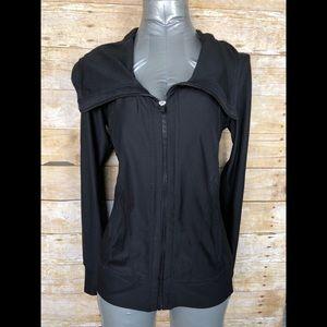 Xersion black zip high neck athletic jacket